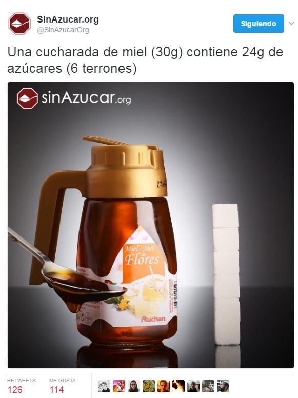 """Miel, o el azúcar es """"bueno"""" si es """"natural"""""""